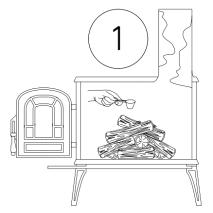 čistiaci prášok na odstránenie dechtu a sadzi s dávkovačom - postup 1