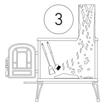 čistiaci prášok na odstránenie dechtu a sadzi s dávkovačom - postup 3