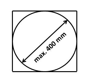 Rotačná kefa TORNADO vyčistíte komín opriemere max. 400 mm