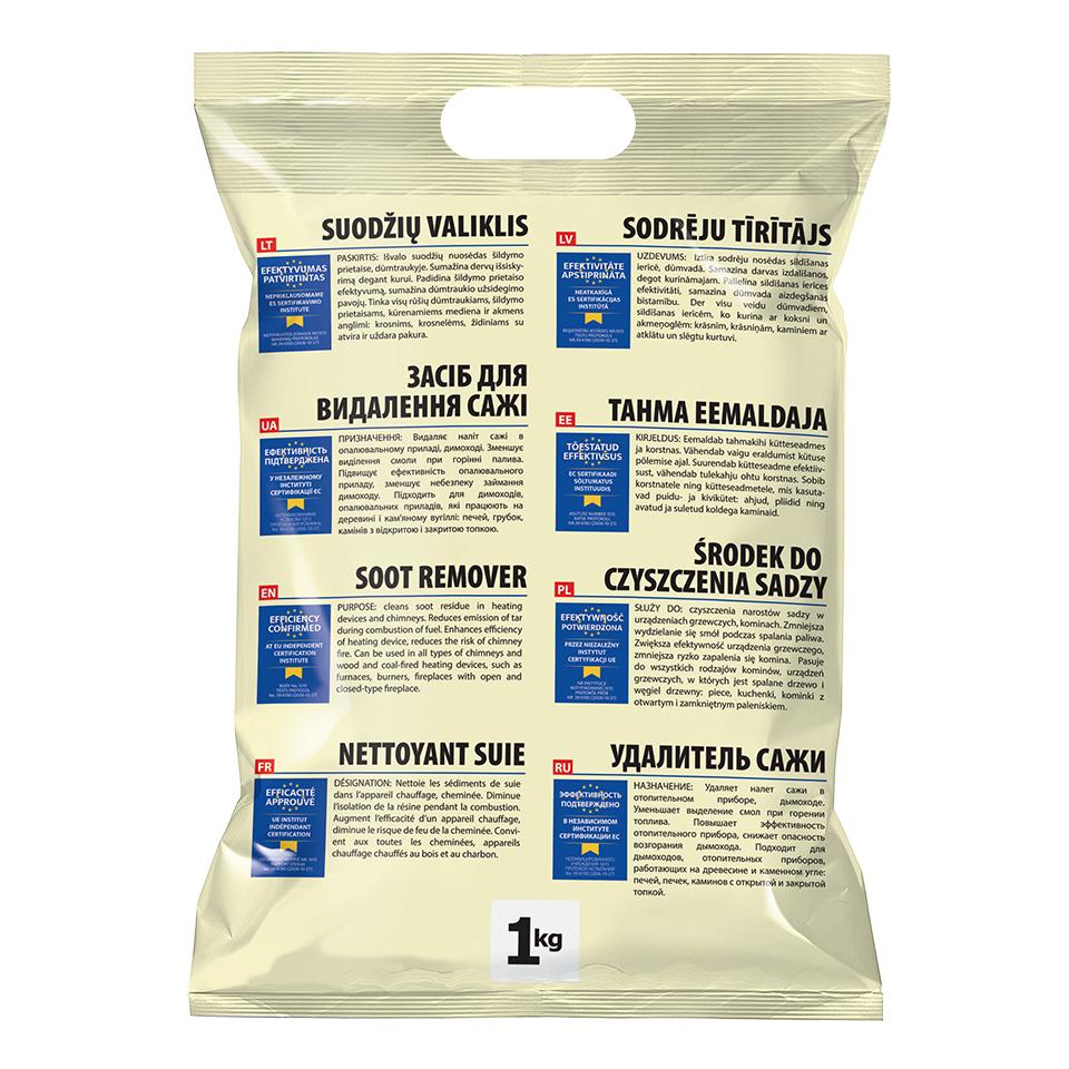 čistiaci prášok naodstránenie dechtu asadzi - sáčok -1kg
