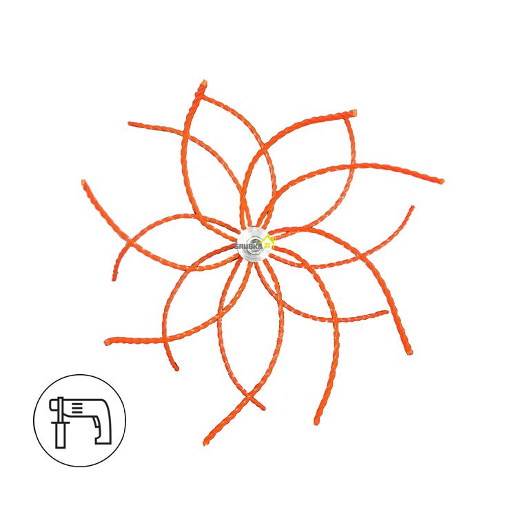 rotačná komínová kefa nylón M12 na čistenie komína od sadzí