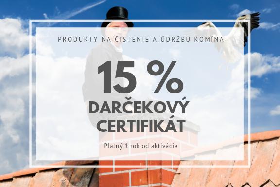 darčekový certifikat na15 %
