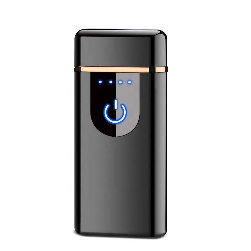plazmový zapaľovač nacigarety čierny USB nabíjanie dotykový
