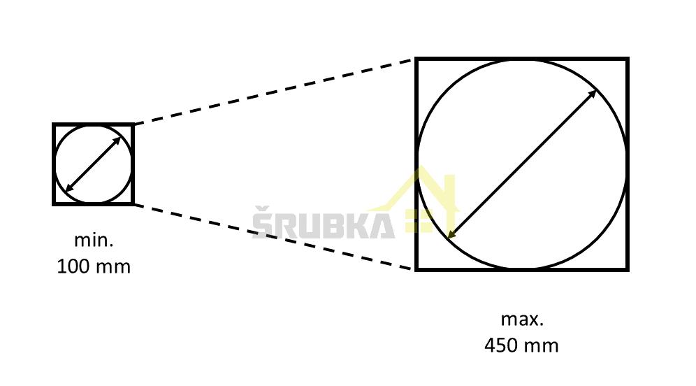 Pre komíny o priemere min. 100 mm max. 450 mm
